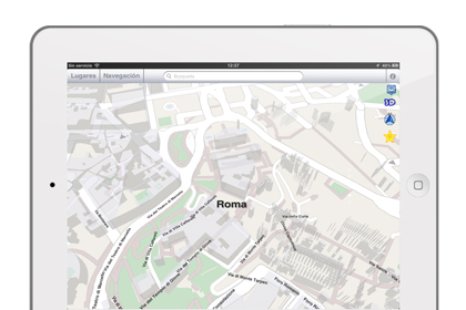 True Maps iPad Rome 3d